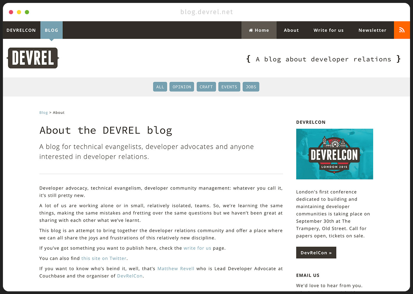 DevRel Blog - About